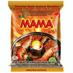 """Тайская лапша """"МАМА"""" со вкусом кремовый """"Том Ям"""", брикет 55 грамм"""