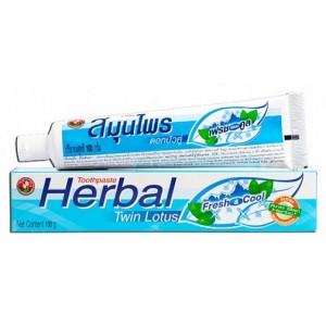 Зубная паста свежесть и прохлада Fresh & Cool Twin Lotus, 100 грамм